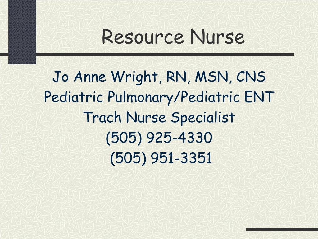 Resource Nurse