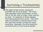 suctioning a tracheostomy