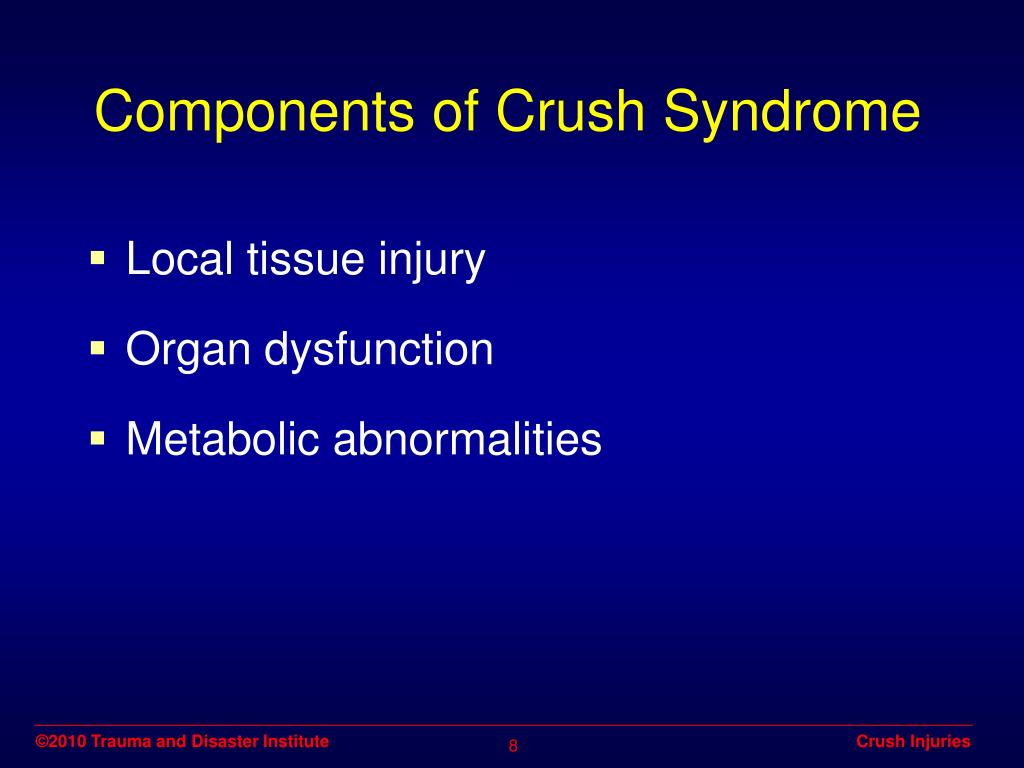 Components of Crush Syndrome