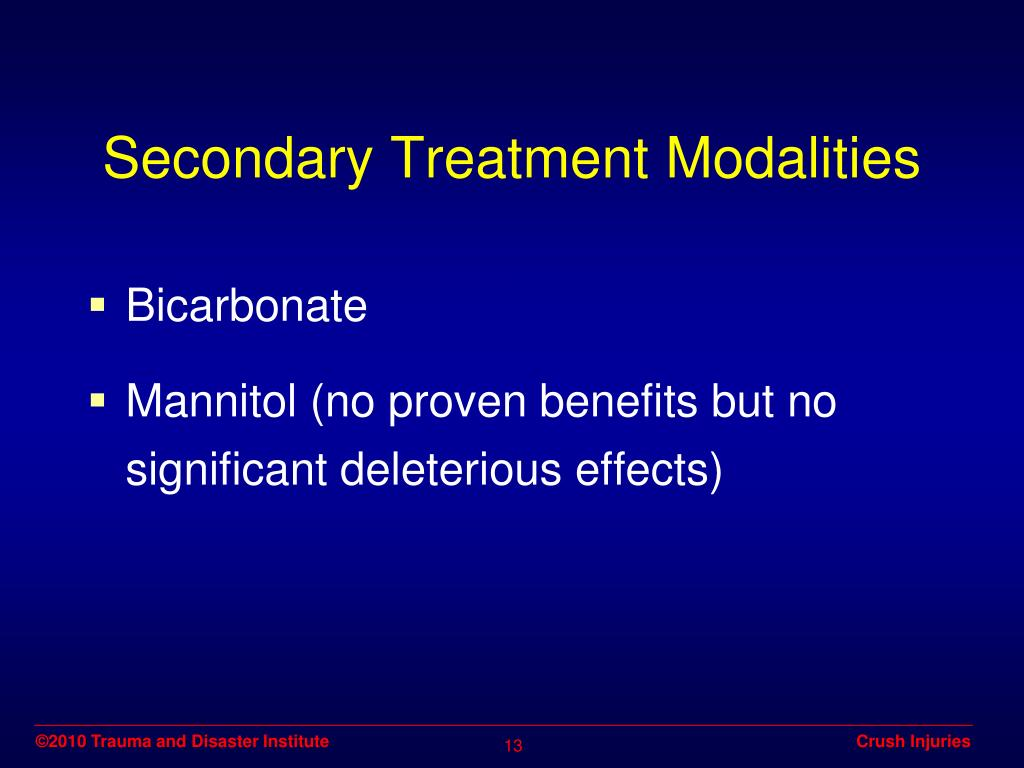 Secondary Treatment Modalities