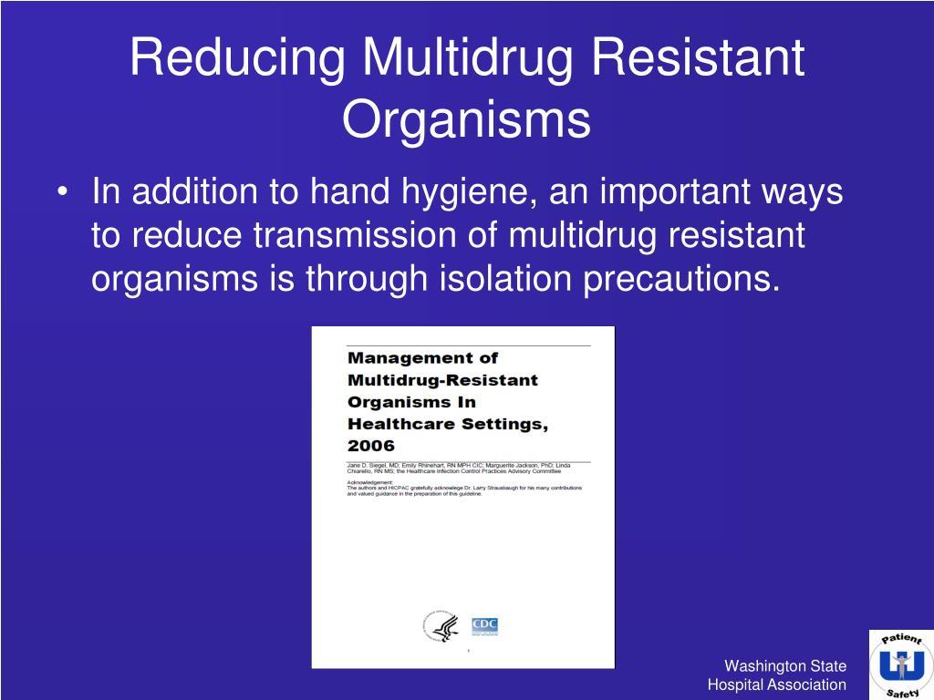 Drug resistant organisms essay
