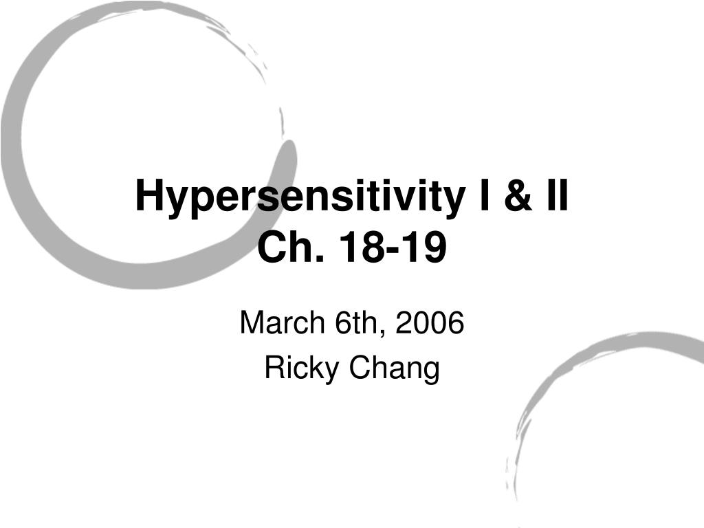 Hypersensitivity I & II