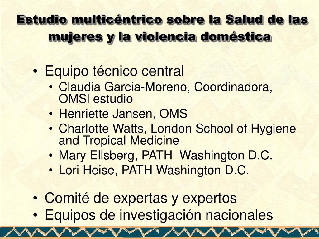 Estudio multicéntrico sobre la Salud de las mujeres y la violencia doméstica