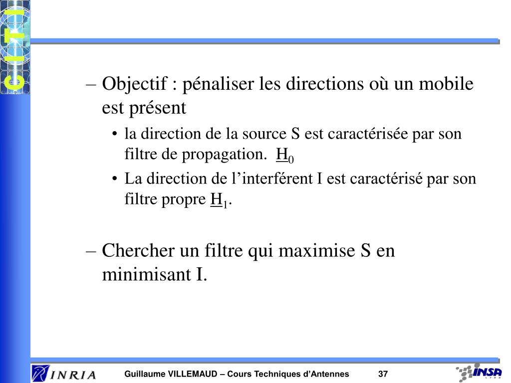 Objectif : pénaliser les directions où un mobile est présent