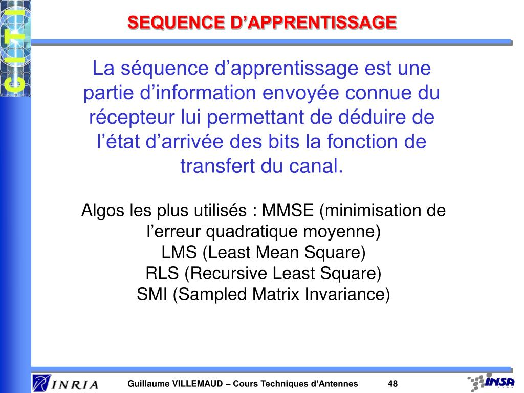 SEQUENCE D'APPRENTISSAGE