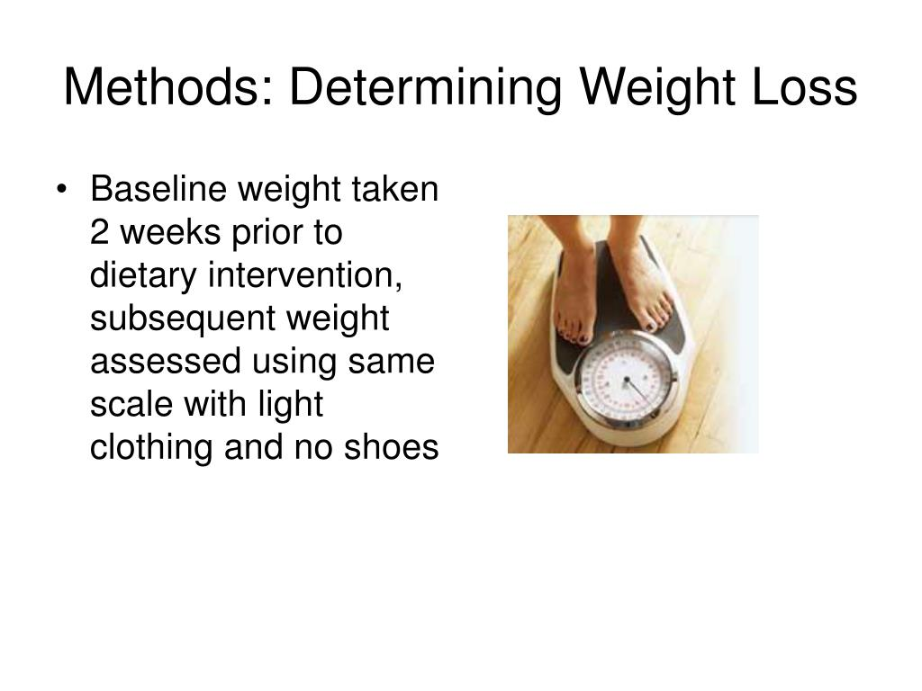 Methods: Determining Weight Loss