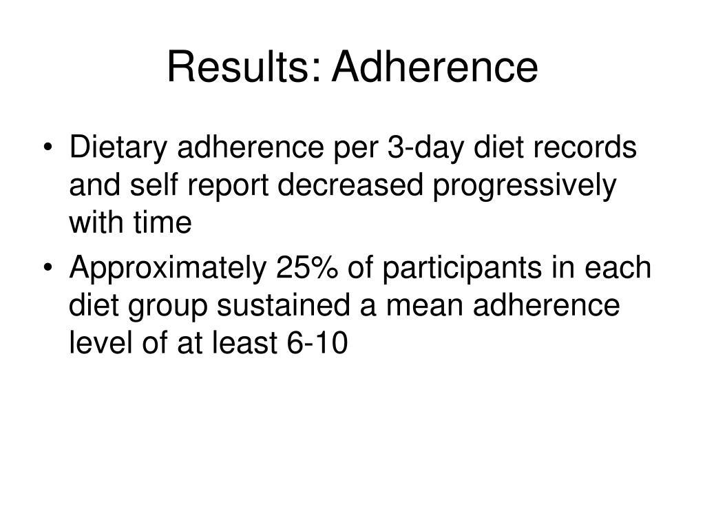 Results: Adherence