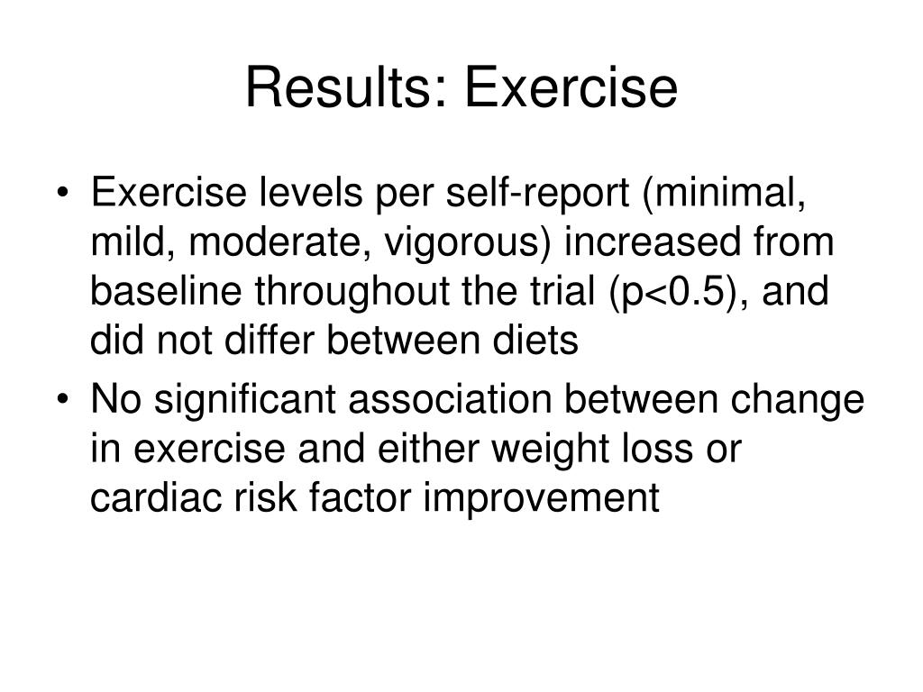 Results: Exercise