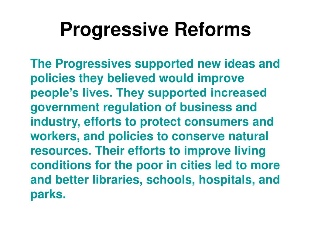 the progressives and topics for reform Progressives included both men and  progressives continued to use the law to reform  //wwwapstudynotesorg/us-history/topics/the-progressive-impulse.