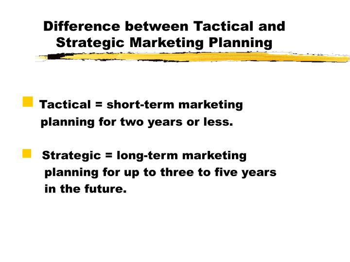 difference between strategic and tactical planning pdf