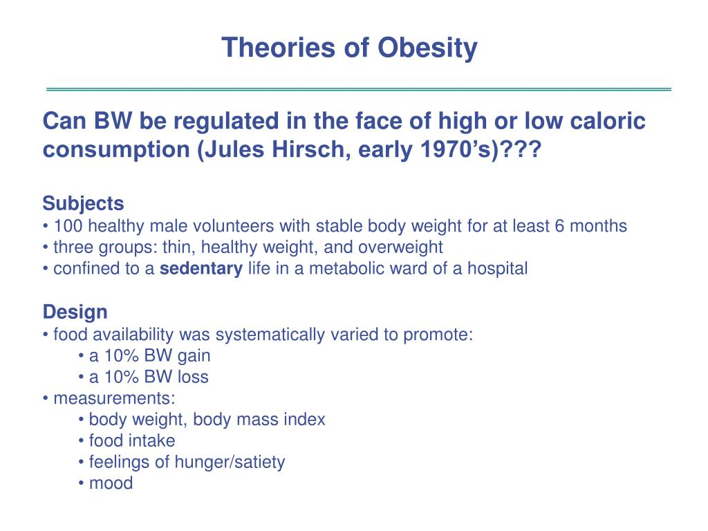 Theories of Obesity