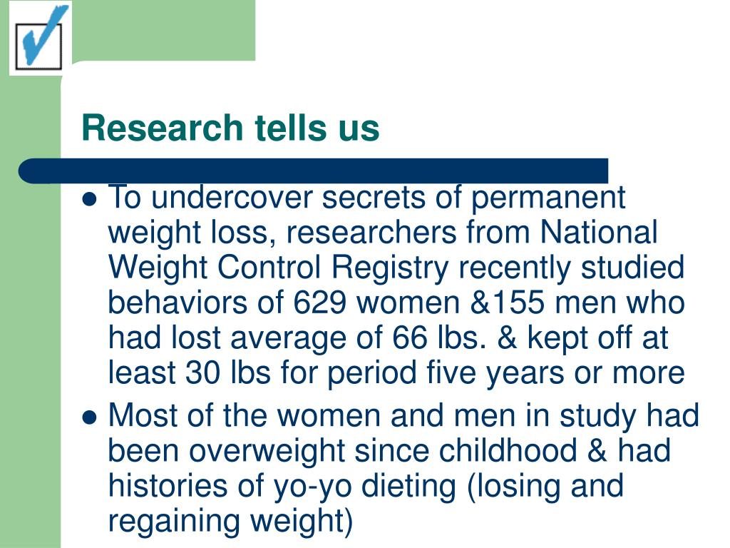 Research tells us