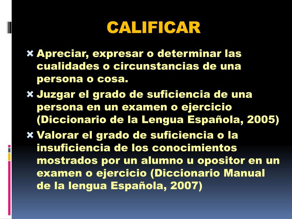 CALIFICAR