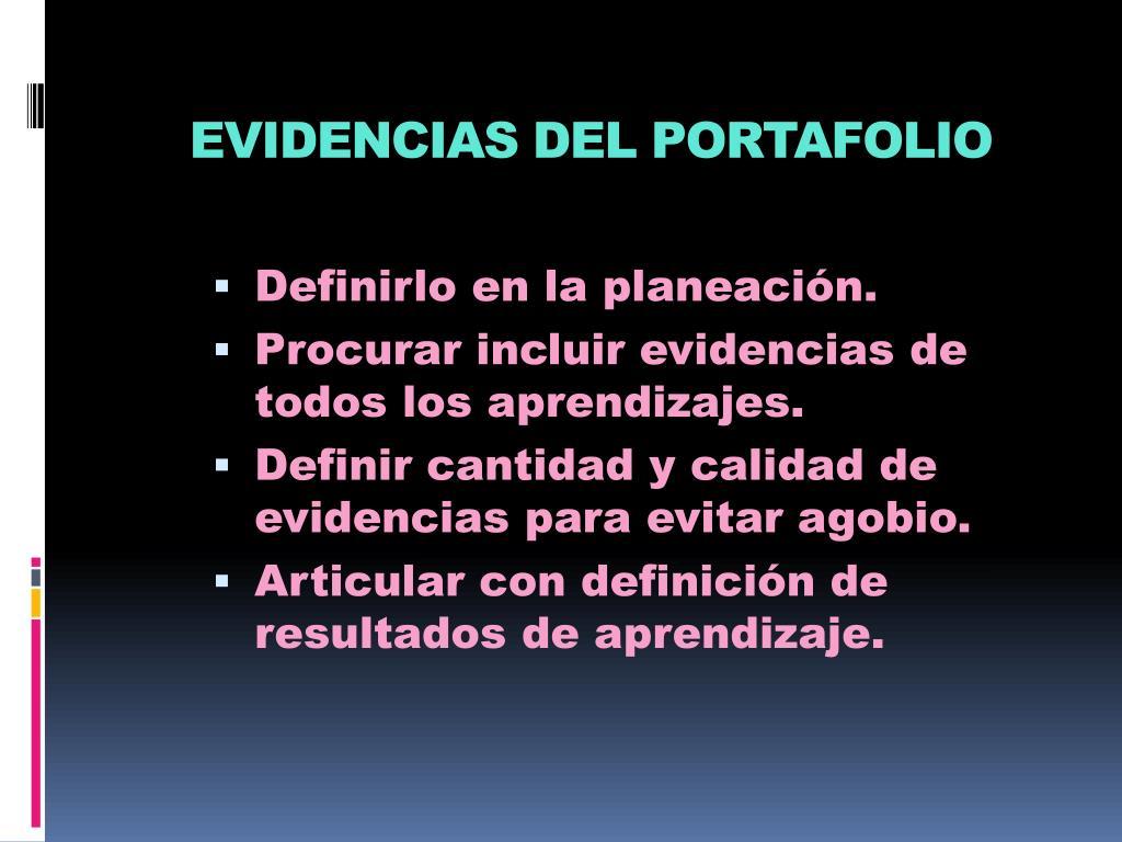 EVIDENCIAS DEL PORTAFOLIO