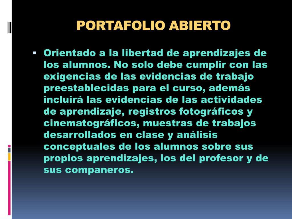 PORTAFOLIO ABIERTO