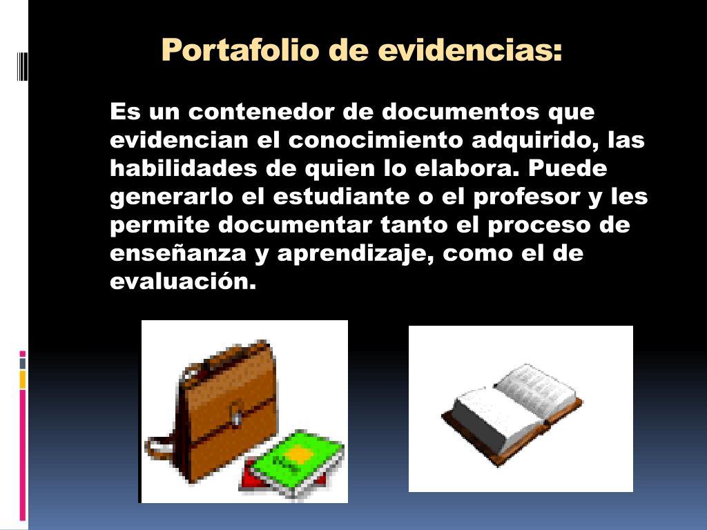 Portafolio de evidencias: