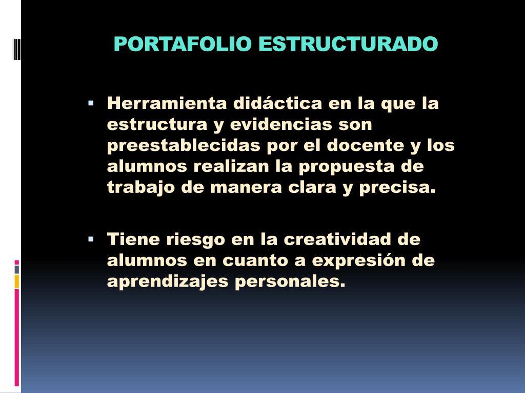 PORTAFOLIO ESTRUCTURADO