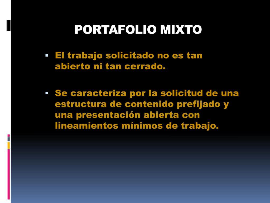 PORTAFOLIO MIXTO