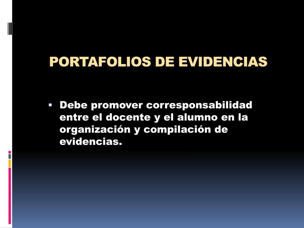PORTAFOLIOS DE EVIDENCIAS
