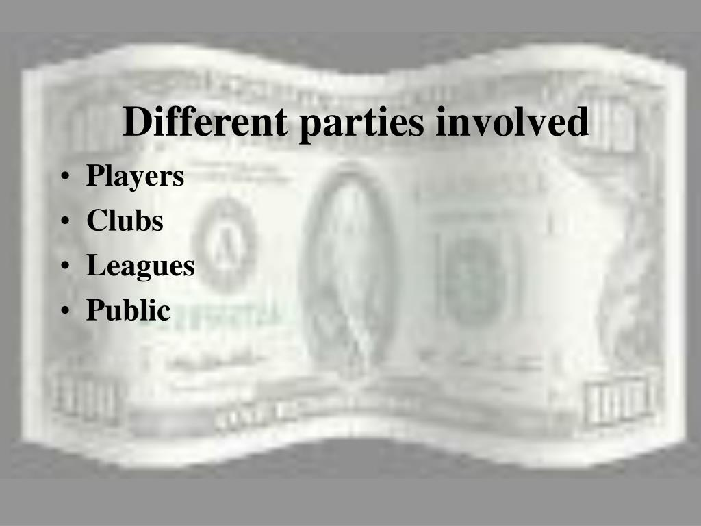Different parties involved