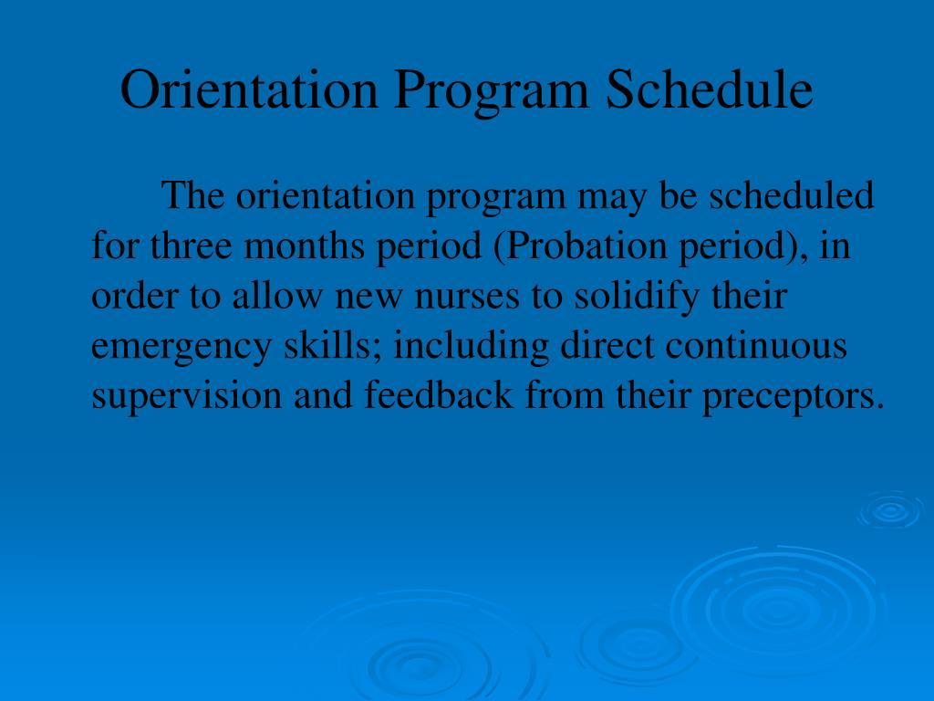 Ppt Orientation Program For New Nurses In Emergency