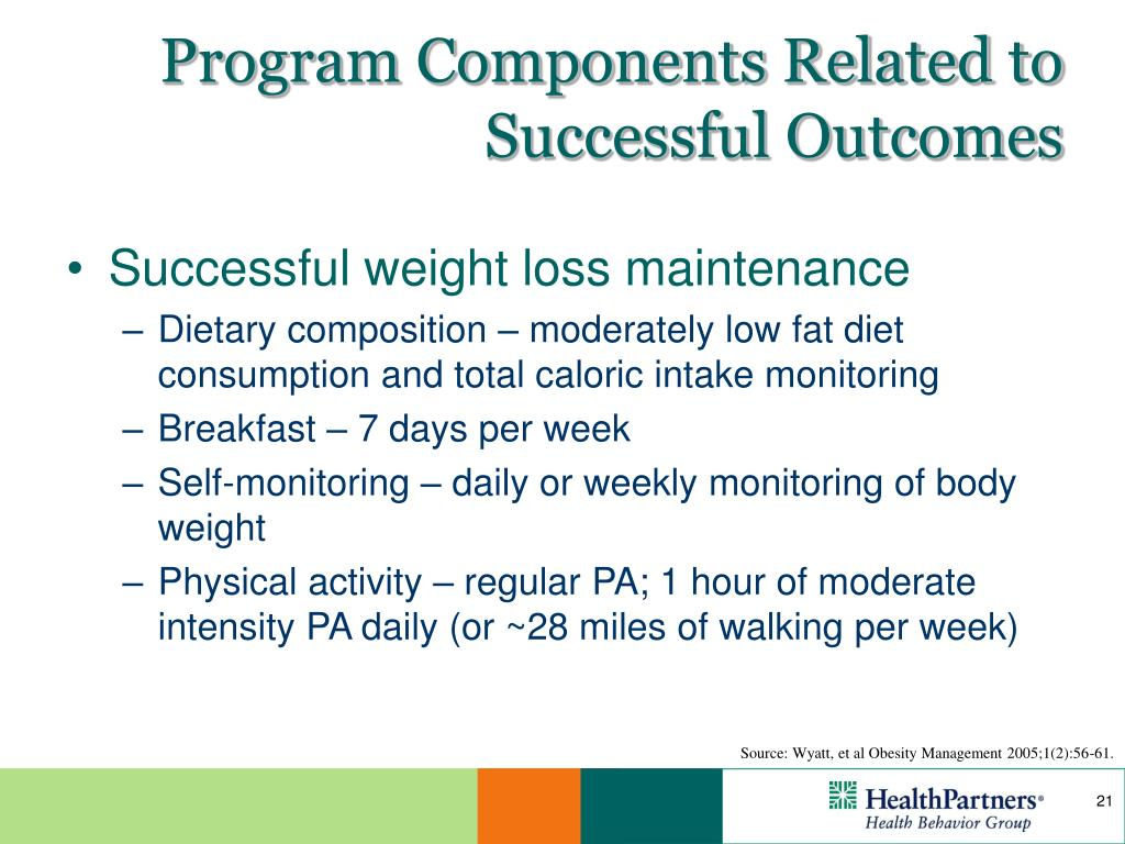 Program Components Related to Successful Outcomes