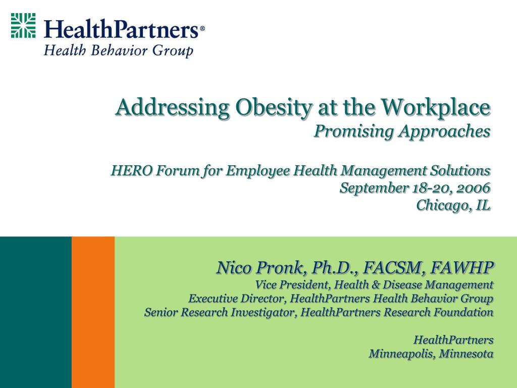 Addressing Obesity at the Workplace