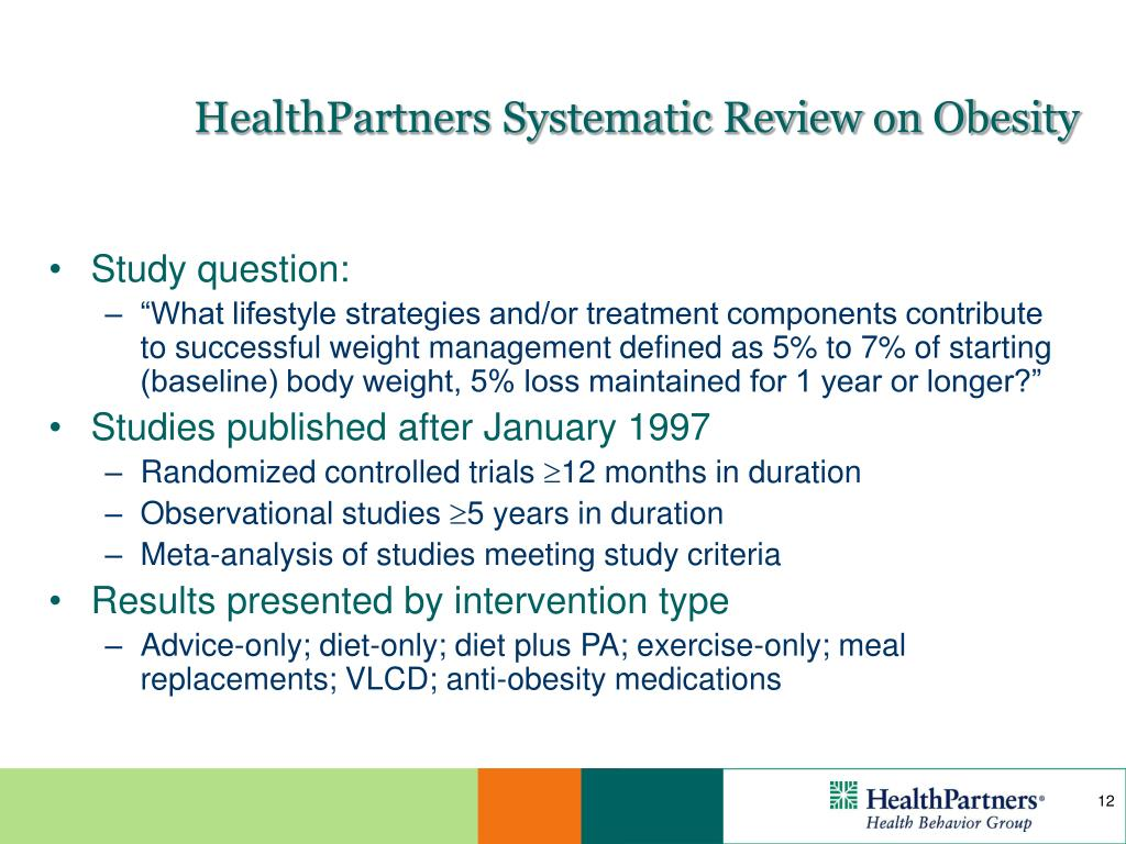HealthPartners Systematic Review on Obesity