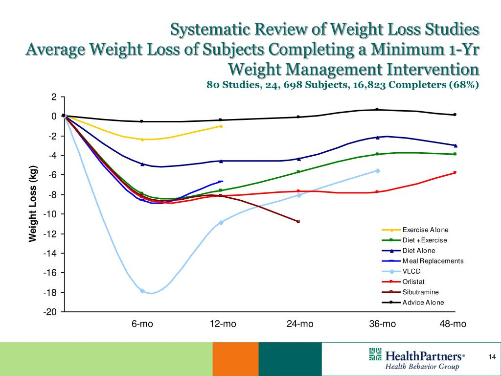 Systematic Review of Weight Loss Studies