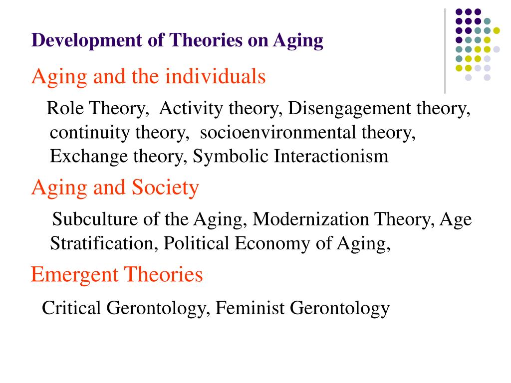 gerontology and social exchange theory Exchange theory, part ii: exchange relations and  social exchange theory has long focused on repeated transactions so the comparison with one  gerontology.