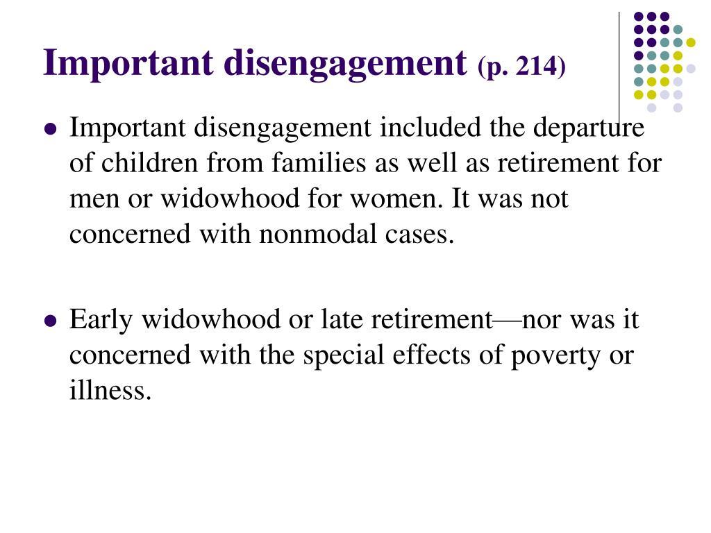 Important disengagement