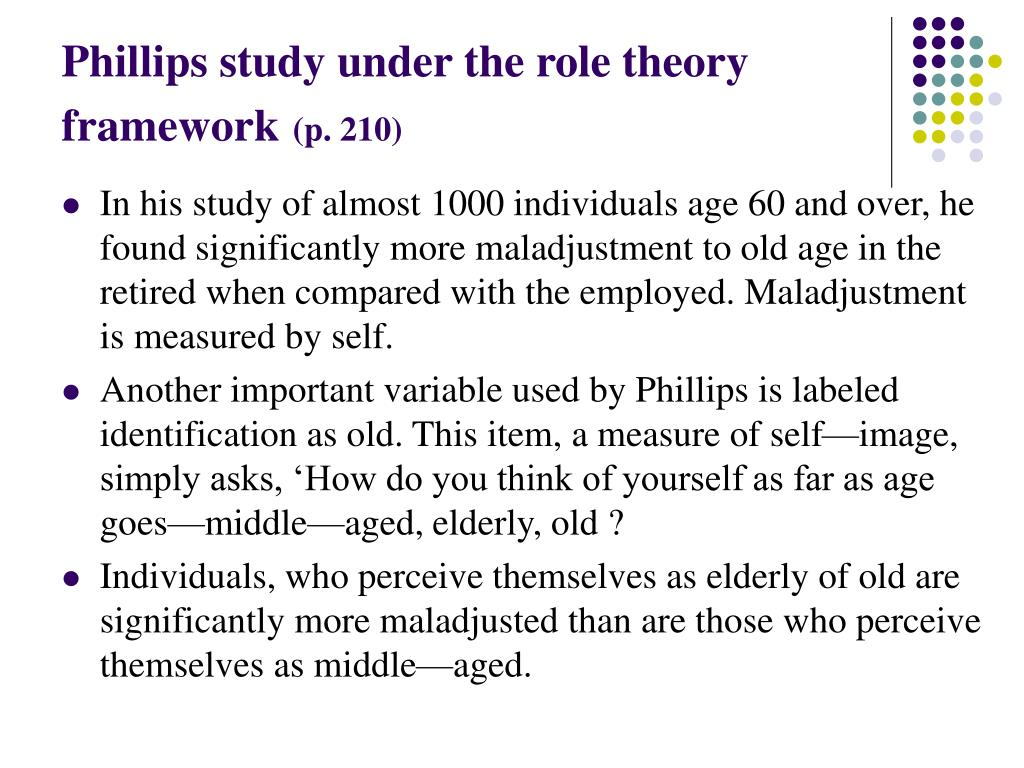 Phillips study under the role theory framework