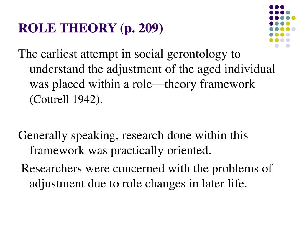 ROLE THEORY (p. 209)