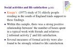 social activities and life satisfaction p 21217