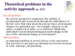 theoretical problems in the activity approach p 21320