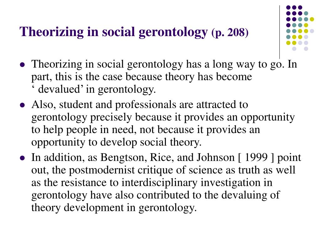 Theorizing in social gerontology