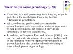 theorizing in social gerontology p 208