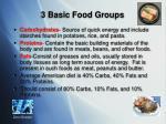3 basic food groups