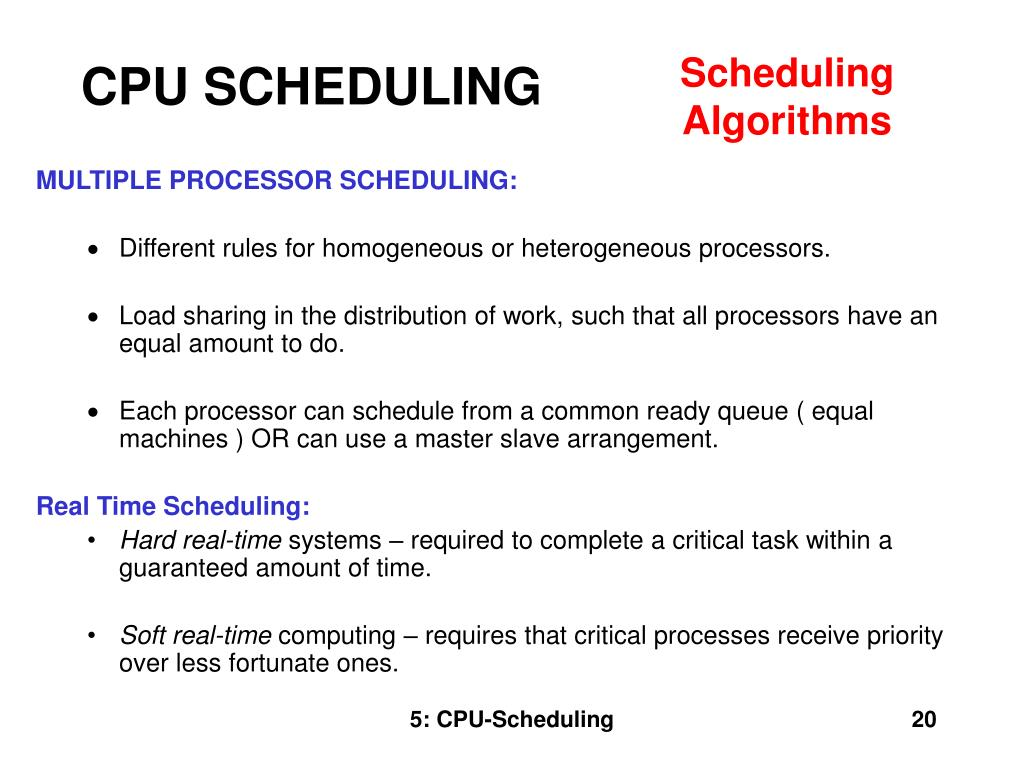 CPU SCHEDULING