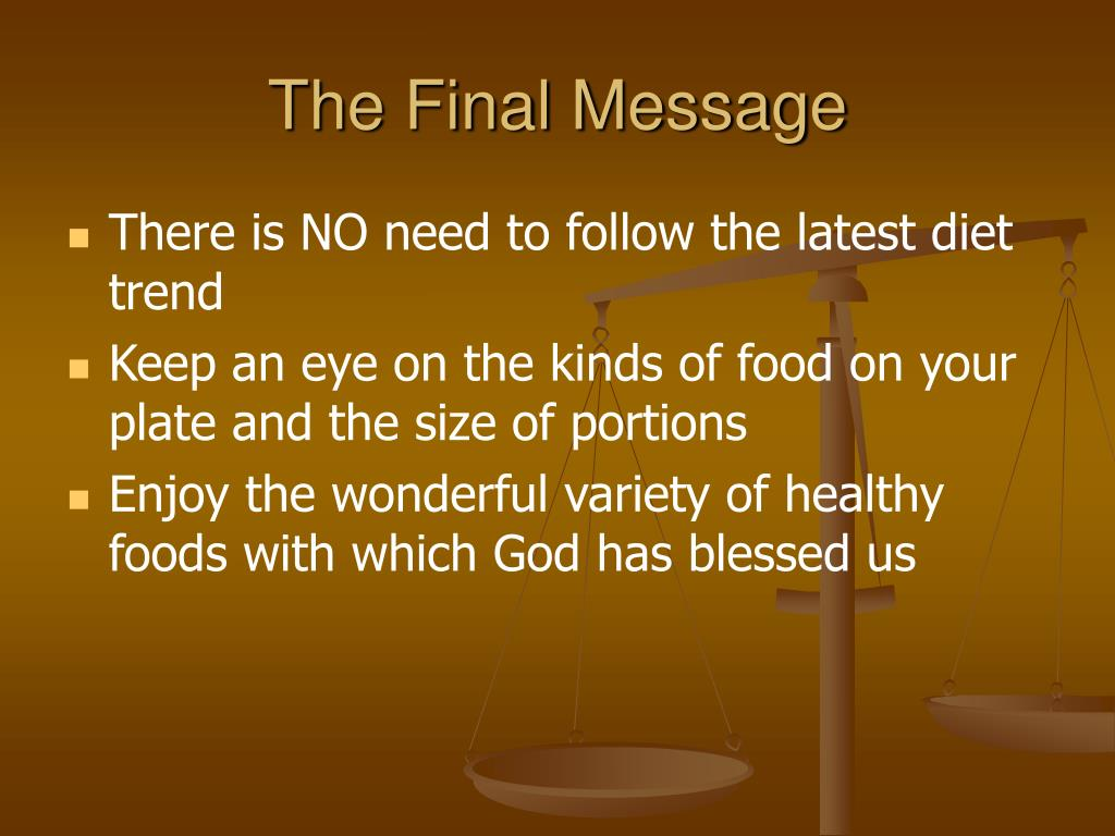 The Final Message