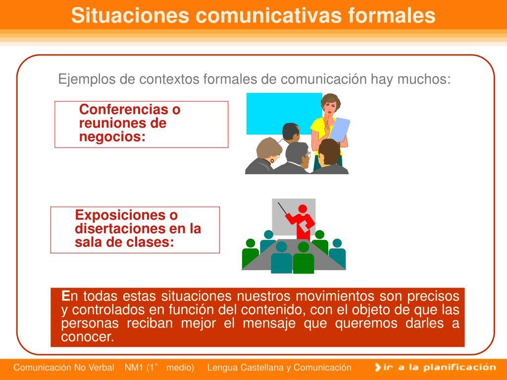 Situaciones comunicativas formales