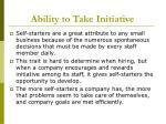 ability to take initiative