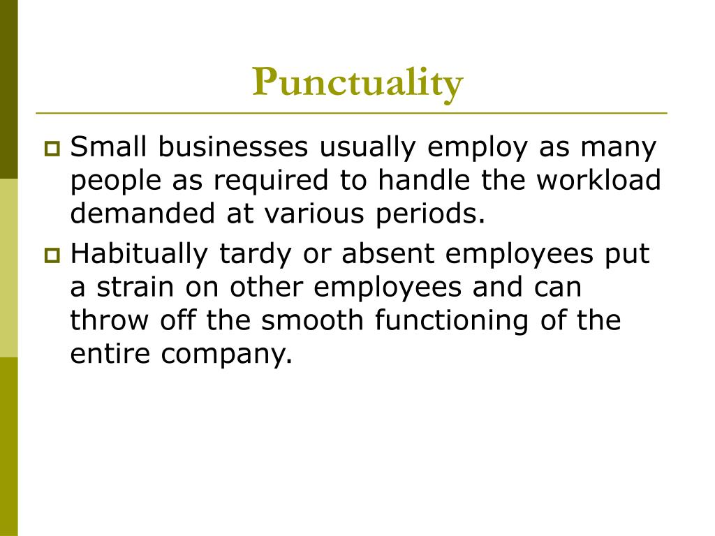 Punctuality