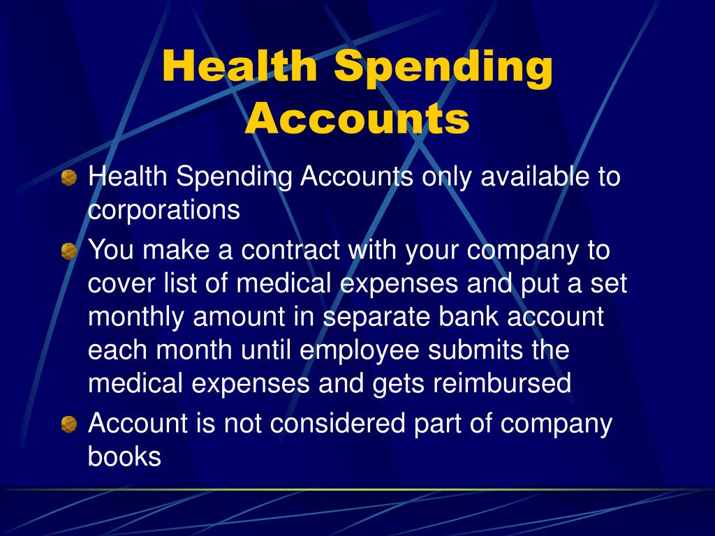Health Spending Accounts