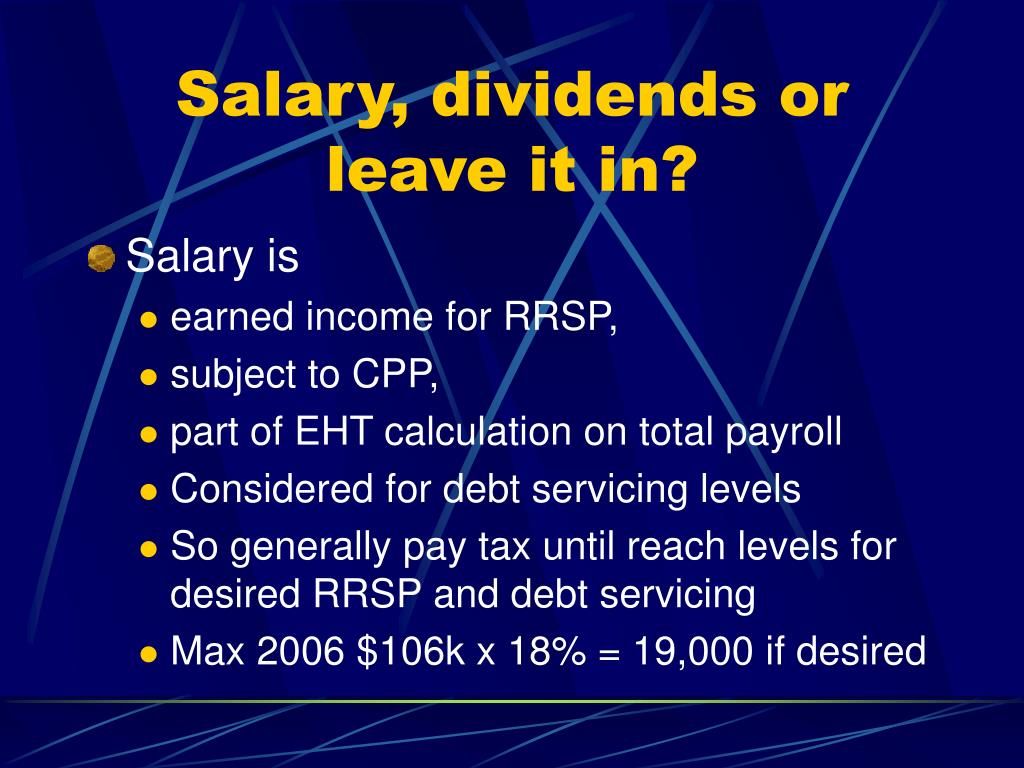 Salary, dividends or leave it in?