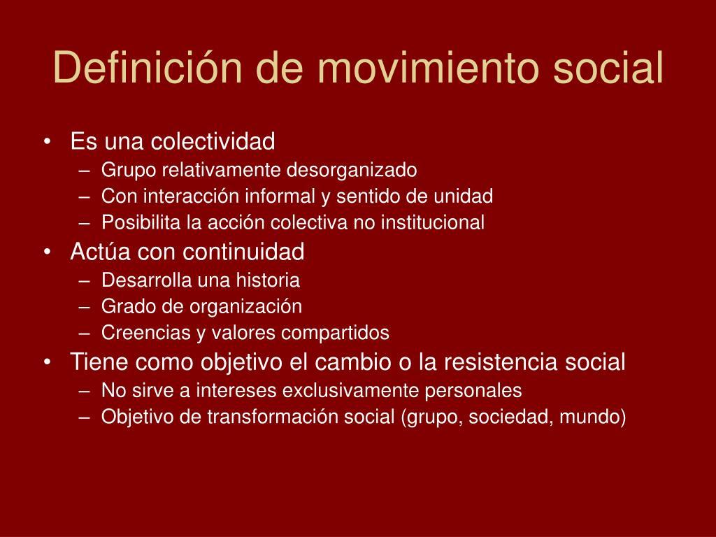 Definición de movimiento social