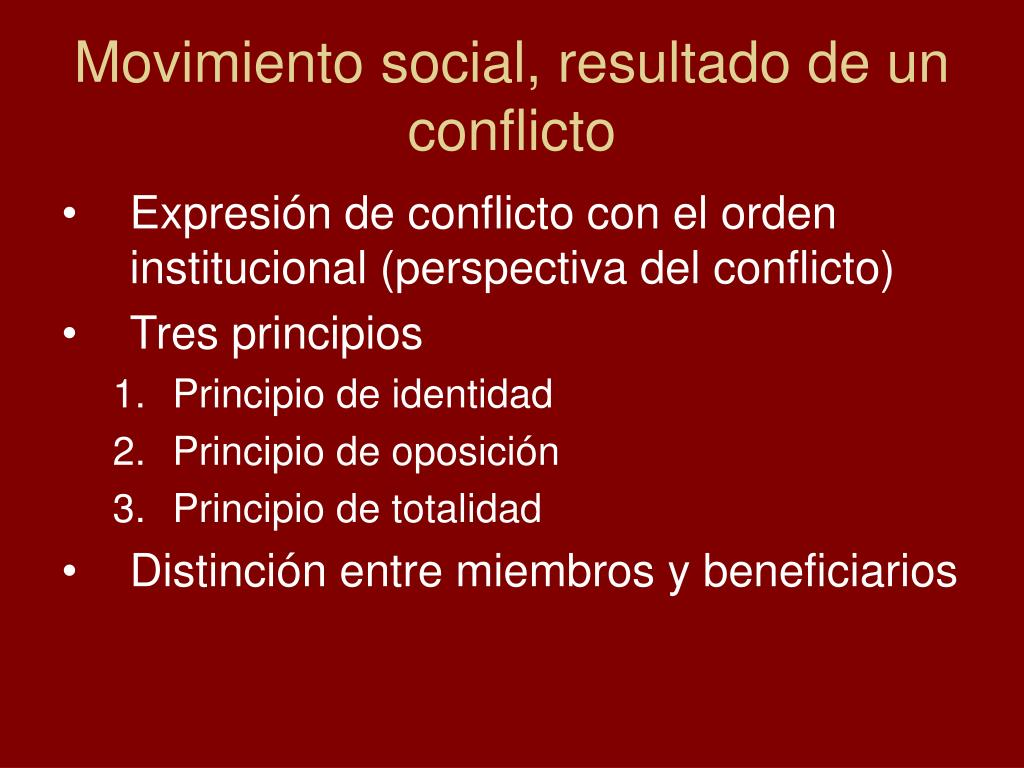 Movimiento social, resultado de un conflicto