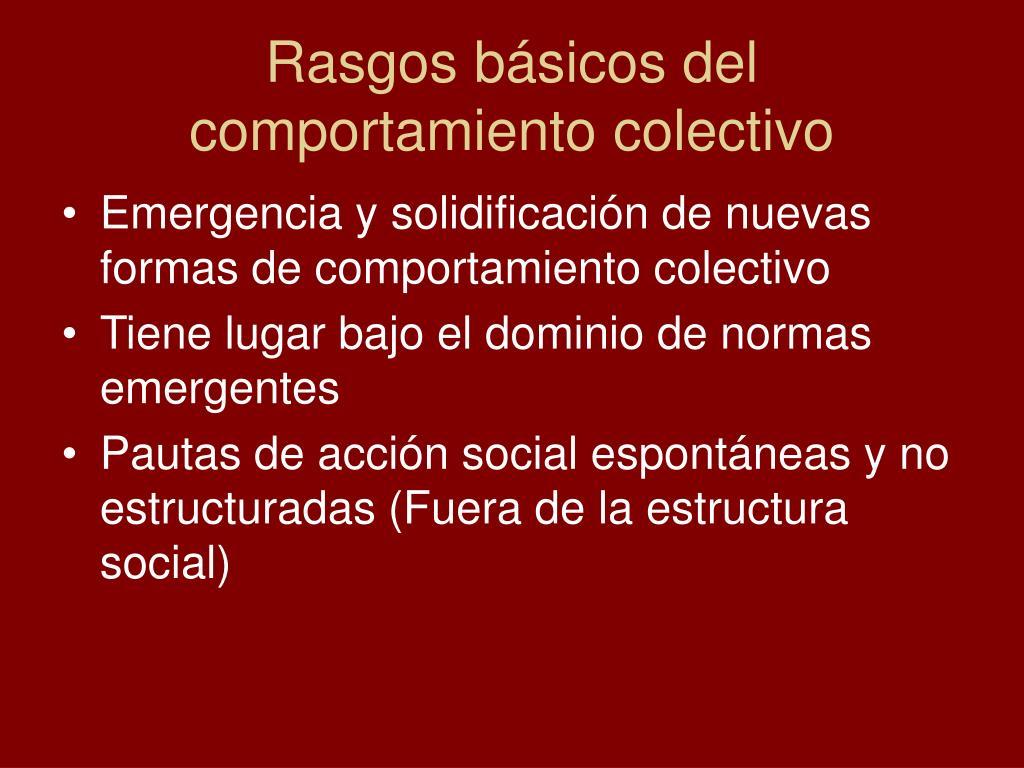 Rasgos básicos del comportamiento colectivo