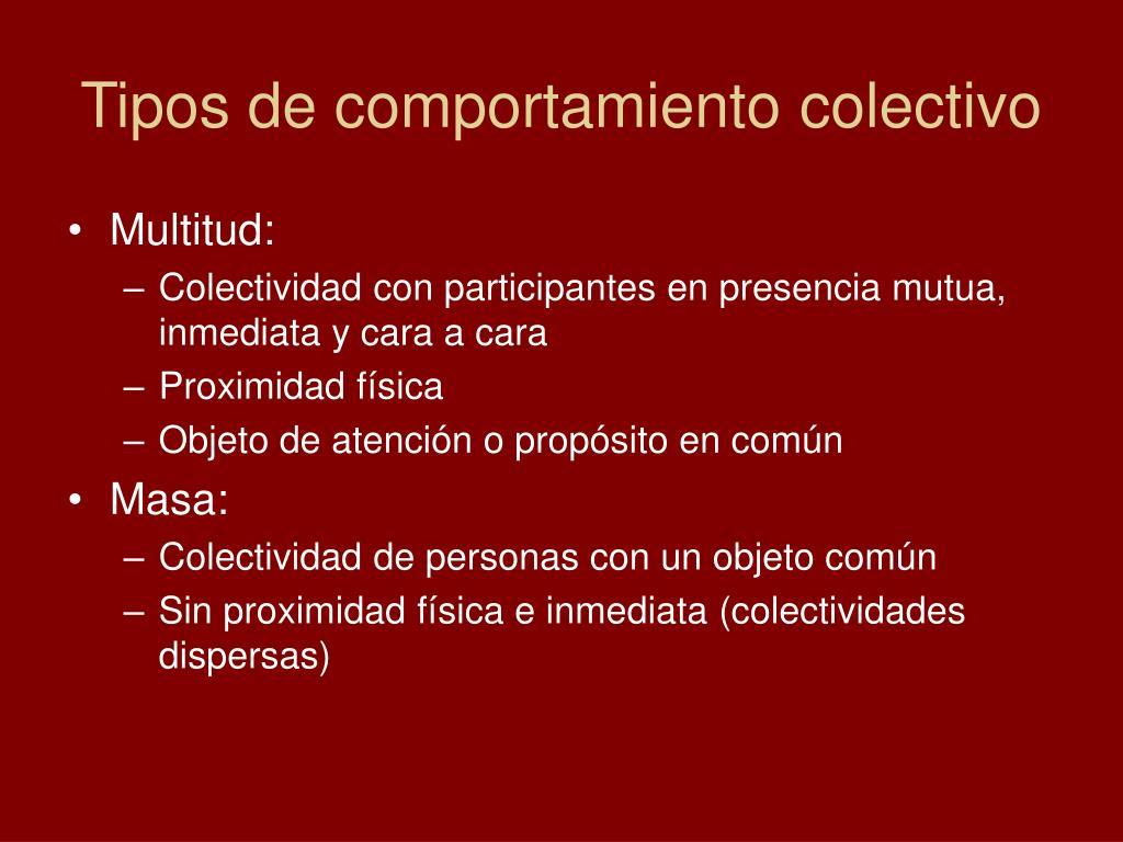 Tipos de comportamiento colectivo