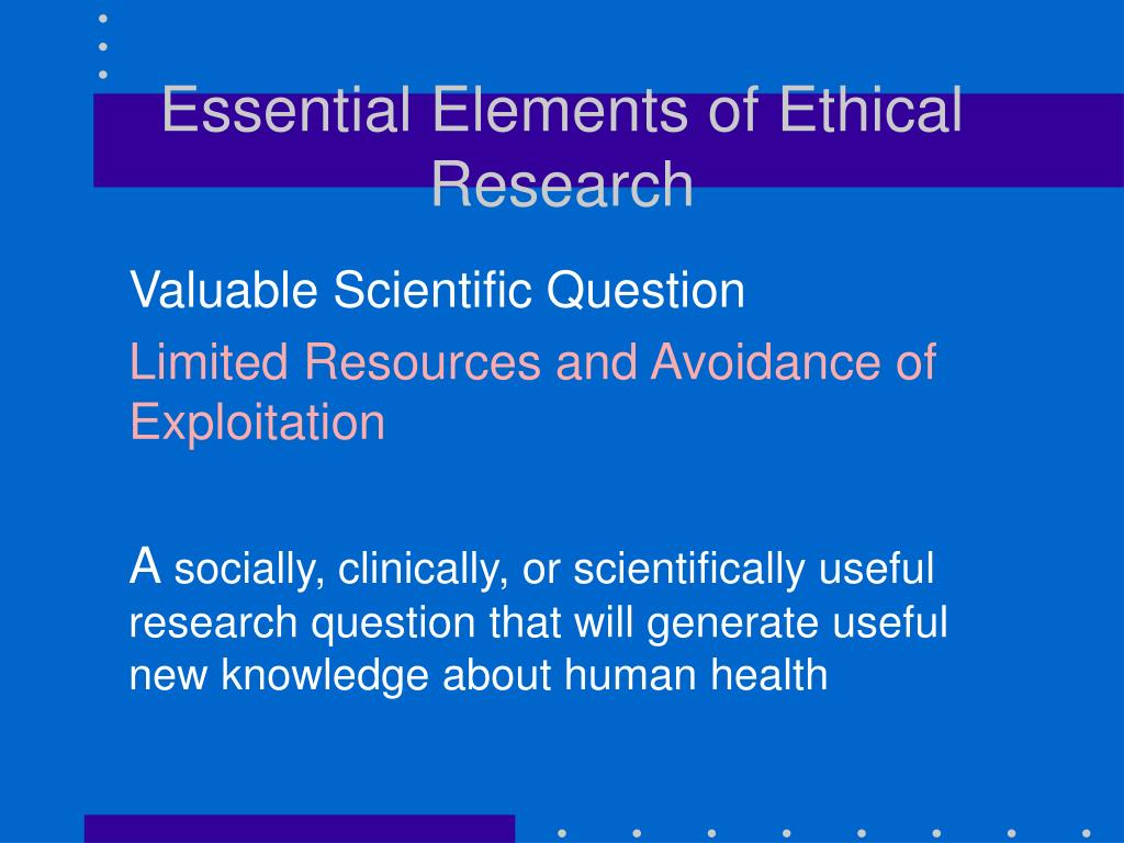the ethical principles of scientific research The importance of research ethics in scientific research signifies the credibility of researchers in the community and also helps avoid scientific misconduct in research, ethical norms help researchers ensure that trust and integrity are maintained in the study.